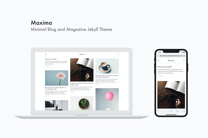 Thumbnail for Maxima - Minimal Blog and Magazine Jekyll Theme