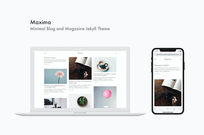 Cover Image For Maxima - Minimal Blog and Magazine Jekyll Theme