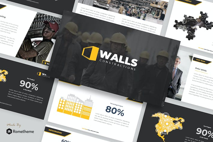 Thumbnail for Walls - Construction Presentation Template