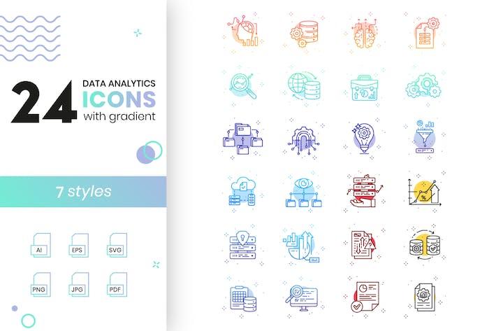 Íconos de análisis de datos