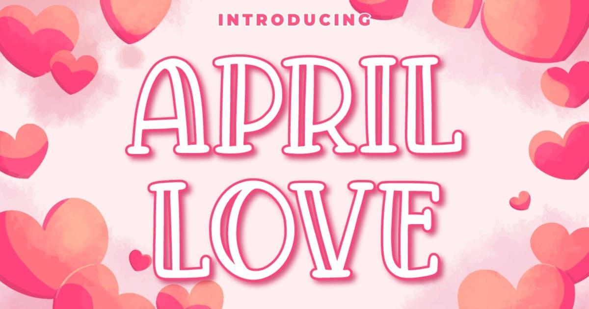 Download April Love - Craft Font by garisman