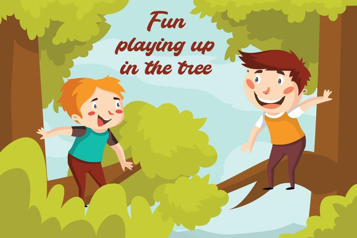 Thumbnail for Fun playing tree - Illustration