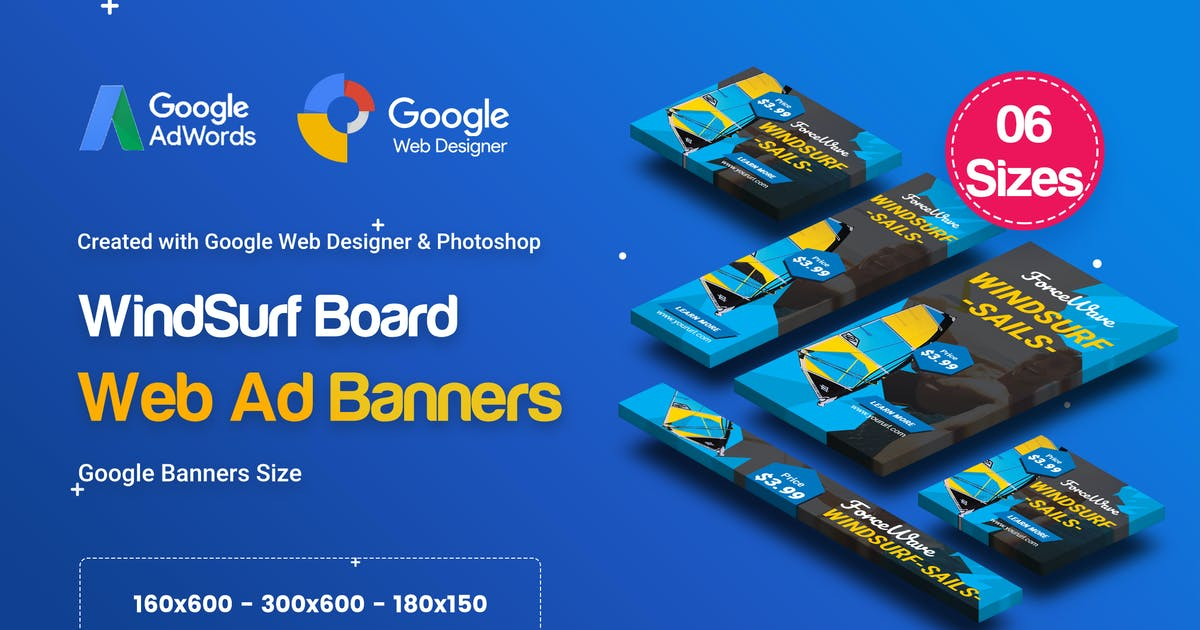 Download C39 - Surf's Up HTML5 Banners Ad - GWD & PSD by iDoodle