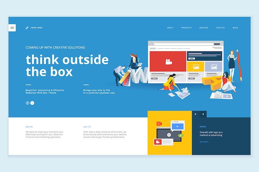 Creative website template design