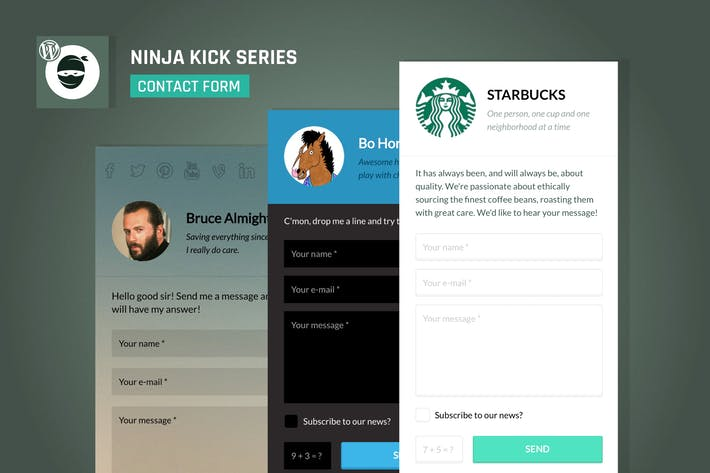Thumbnail for Ninja Kick: WordPress Contact Form Plugin