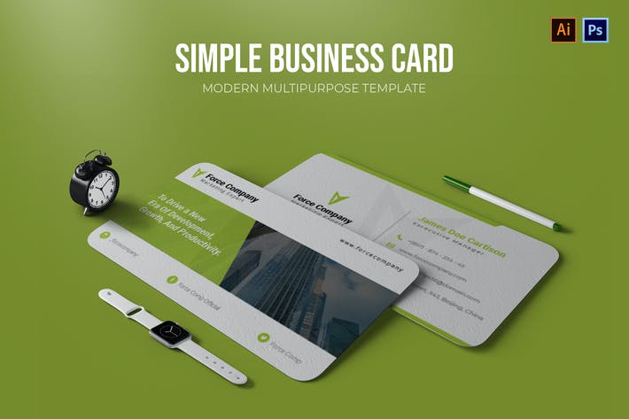 Thumbnail for Simple - Business Card