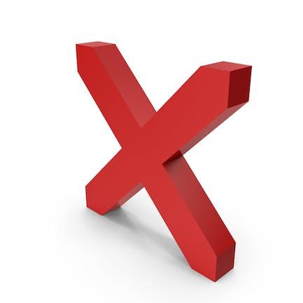 Símbolo X rojo