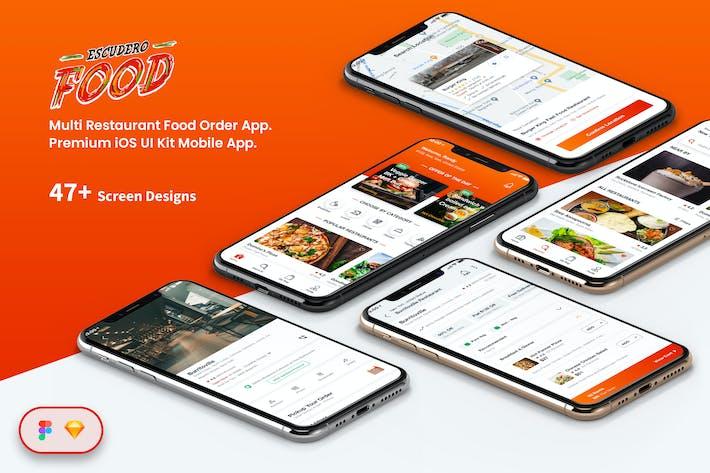 Thumbnail for Multi Restaurant Food Order Mobile App UI