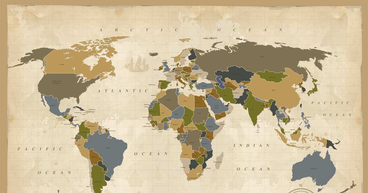 Download World Map Design by mamanamsai