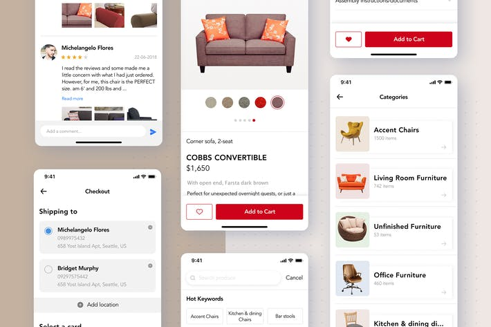 Thumbnail for Furniture Shopping App