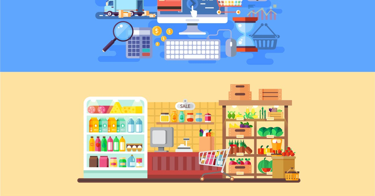 Download Supermarket and E-commerce Banners by alexdndz