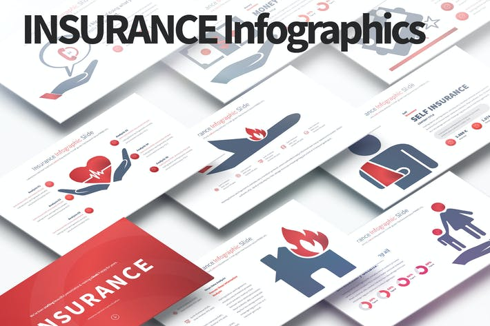 Thumbnail for Insurance - PowerPoint Infographics Slides