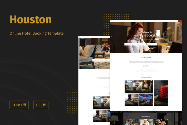 Thumbnail for Houston - Online Hotel Booking Template