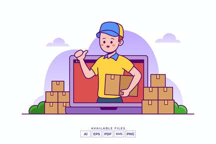 Delivery Courier Illustration