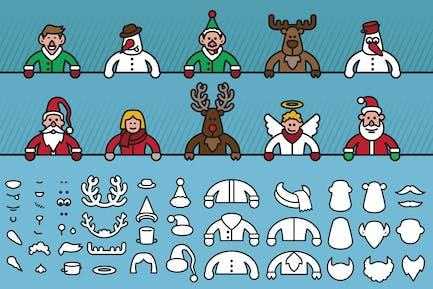 Christmas character creator