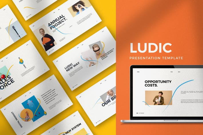Thumbnail for Ludic - Minimal Creative Agency Keynotes