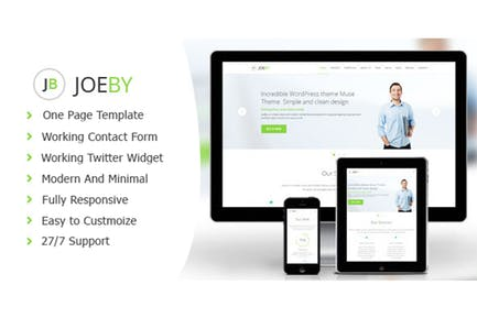 Joeby - Clean One Page Business Template