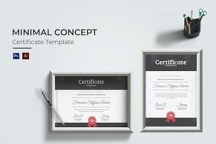Certificat de concept minimal