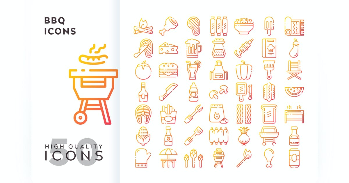 Download BBQ OUTLINE GRADIENT by subqistd