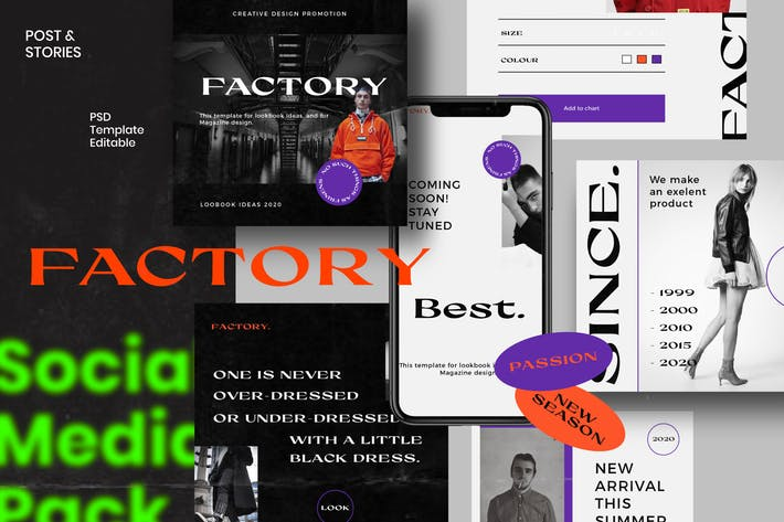 Thumbnail for Factory - Post & Story Instagram Vol.2