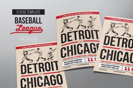 Vintage Baseball Flyers