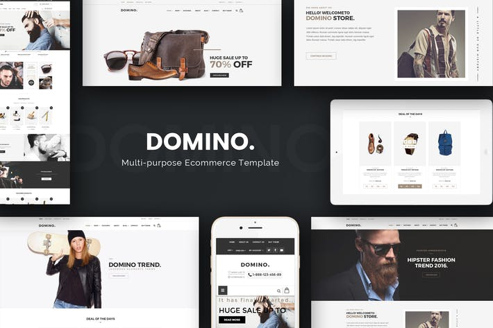 Thumbnail for Domino - Mode Responsive Magento 2 Thème