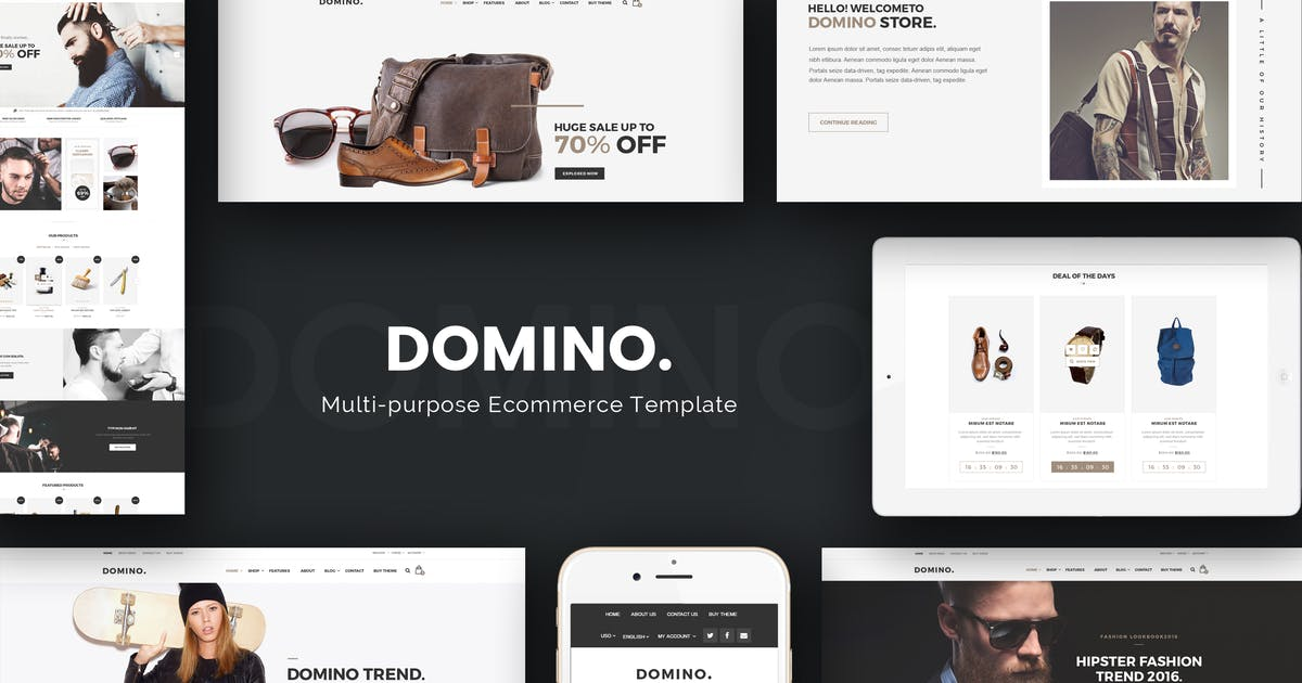 Download Domino - Fashion Responsive Magento 2 Theme by Plaza-Themes