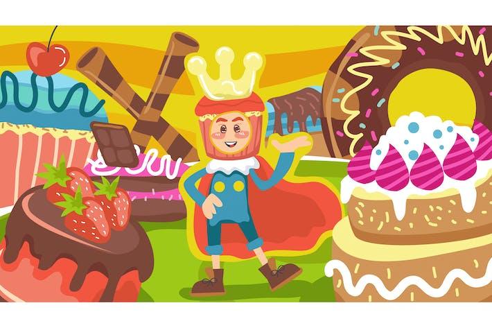 Thumbnail for King of Cake Kids Illustration