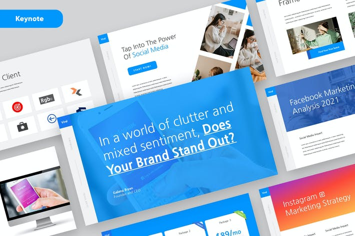 VIRAL - Social Media Marketing Keynote Template