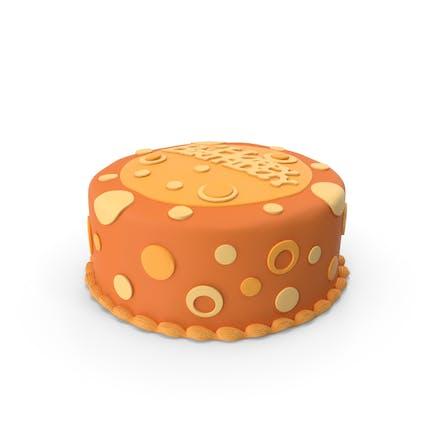 Geburtstagskuchen Orange