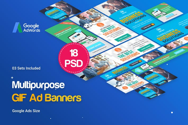 Thumbnail for Animated GIF Multipurpose Banners Ad