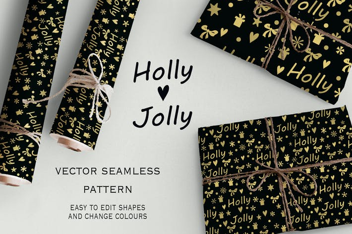 Thumbnail for Motif Holly Jolly sans couture