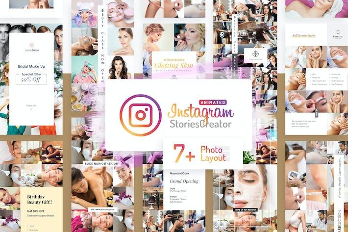 Thumbnail for Анимированные истории Instagram Создатель-Powerpoint V7