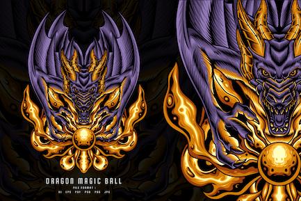 Dragon Magic Ball illustration