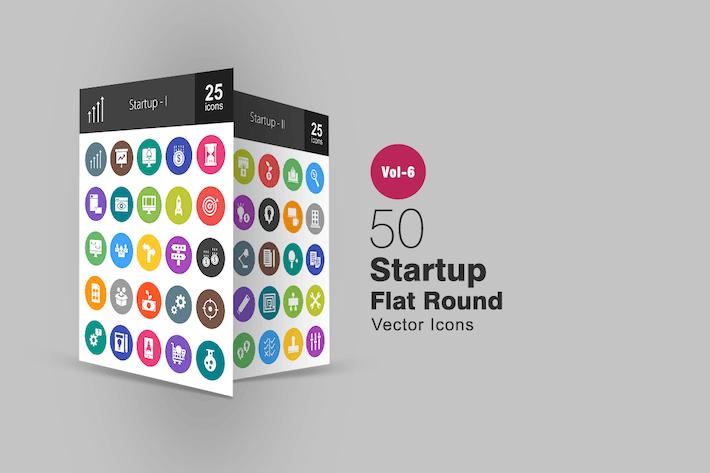 50 Start-Glyphe Multicolor BG Icons