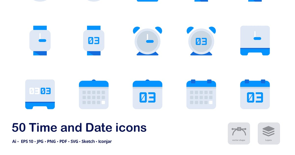 Download Time and Date Accent Duo Tone Flat Icons by roundicons