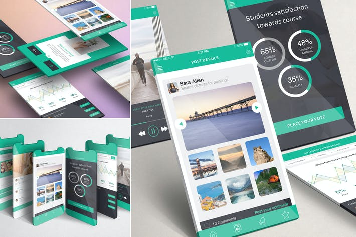 Thumbnail for Multi-Screen Mockups For iPhone