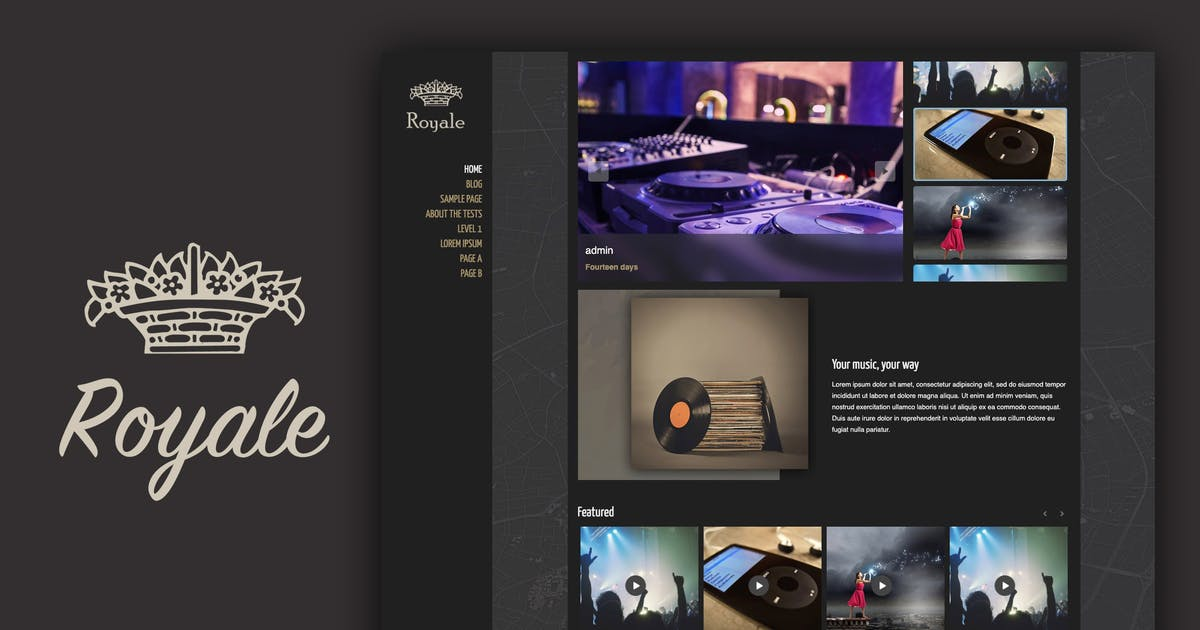 Download Royale Creative Ajax Theme by ZoomIt