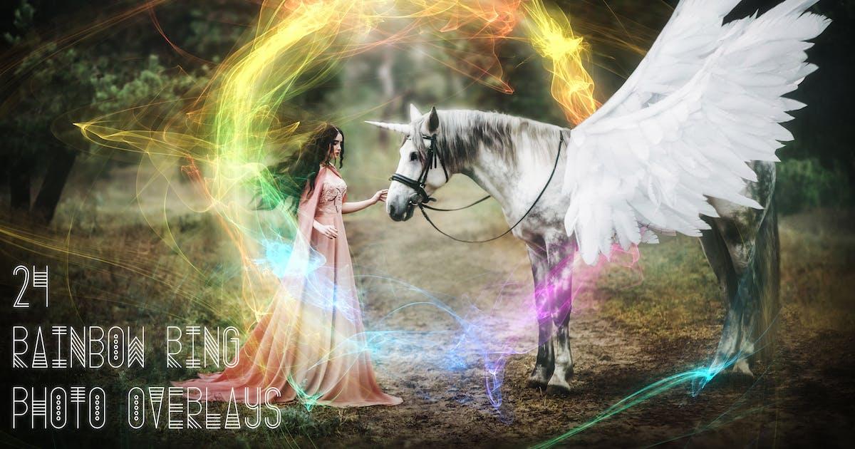 Download 24 Rainbow Ring Photo Overlays by Eldamar_Studio