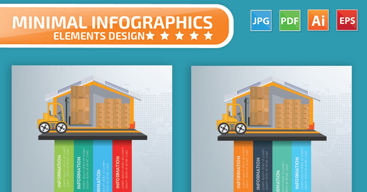 Download Cargo and warehouse infographics by mamanamsai