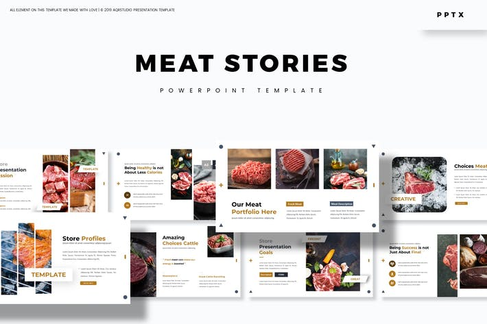 Meat Stories - Powerpoint Template