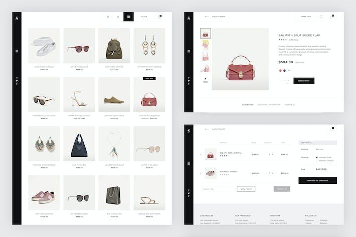 Thumbnail for Skiboo - Modern & Minimal eCommerce PSD Template