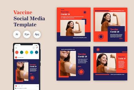 Vaccine Social Media Template Vol. 04