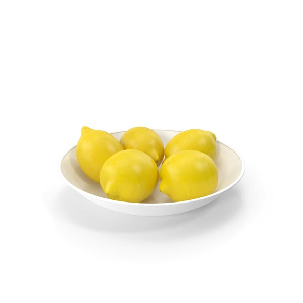 Plate with Lemons
