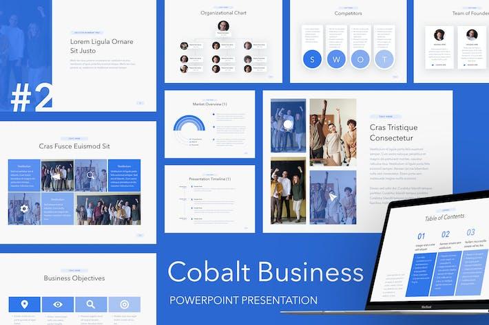 Thumbnail for Cobalt Business PowerPoint Template