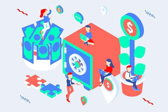 Thumbnail for Investment Isometric Illustration