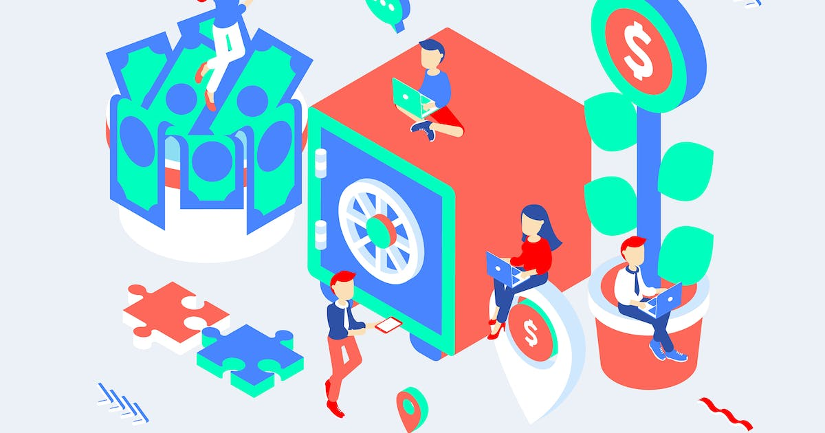 Download Investment Isometric Illustration by angelbi88