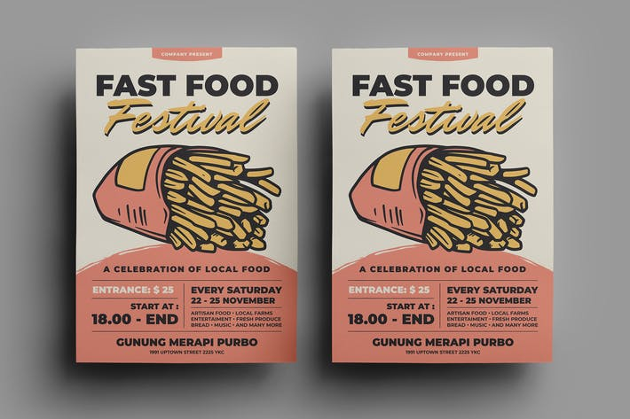 Thumbnail for Fast Food Flyer Design.19