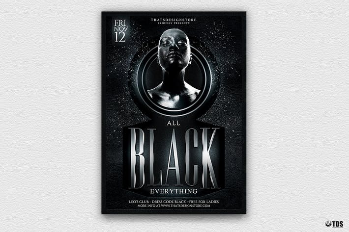 Thumbnail for Black Party Flyer Template V3