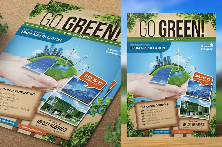 Thumbnail for Go Green Flyer